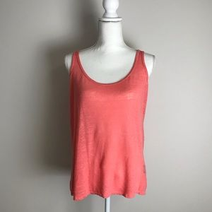 Le Chateau - Coral tank top with lace back